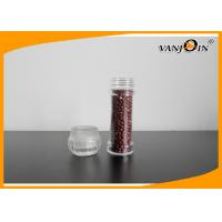 China 100ml Salt and Pepper Mills Spice Clear Plastic Food Containers / Plastic Jar with PC cap on sale