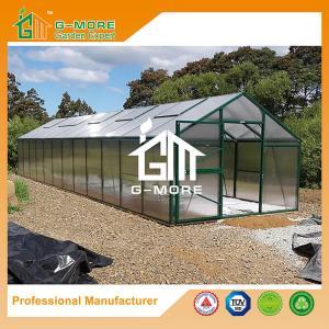 Quality Aluminum Greenhouse-Titan series-1206X306X243CM-Green/Black Color-10mm thick PC for sale