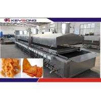 Wholesale Large Capacity Snacks Frying Machine , Commercial Deep Fryer Automatic Continuous Belt from china suppliers