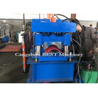 China Automatic Roof Ridge Cap Roll Forming Machine , Roll Forming Equipment PLC Control for sale