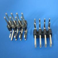 Wholesale 2x40 Pin 2.54mm Double row Straight Male Header Right-angle - Black from china suppliers