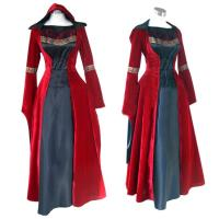 Wholesale Medieval Dress Wholesale XXS to XXXL Red Gothic Renaissance Medieval Victorian Evening Dress Costume Cosplay from china suppliers