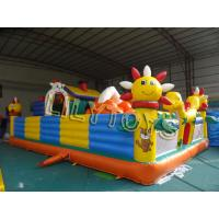 Wholesale colorful children Inflatable Fun City playground With blower / repair kits from china suppliers