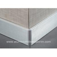 Wholesale Silver Brushed Aluminium Skirting Boards Floor Decoration 60mm / 80mm / 100mm Height from china suppliers