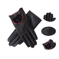 China Ladies Fashion Dress Aniline Leather Driving Gloves Breathable Plain Style on sale