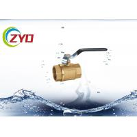 """Wholesale Forged Brass Bronze Ball Valve , 1 / 2"""" - 4"""" Threaded Bonnet Brass Water Valve from china suppliers"""
