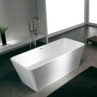 China Semi-glossy Professional Solid Surface shower combo resin Bathtubs for bathroom tubs and showers on sale