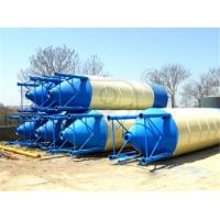China New design detachable powder/ fly ash bolted type100 ton cement silo for concrete plant on sale