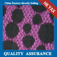 Wholesale 2014 china factory wholesale new design hot selling low price Black dot design Nylon & Cotton lace fabric from china suppliers