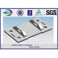 China High Tensile Strength Plain Railroad Tie Plates as Track Fasteners for sale