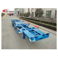 Wholesale Leaf Spring Terminal Trailer , Semi Trailer Transport Two 20- Foot Containers from china suppliers