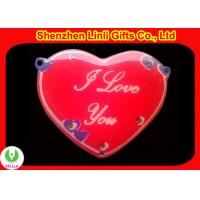Wholesale cheap Hot heart shaped digital led name badge led digital badge Valentine day Gifts from china suppliers