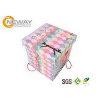 Wholesale Modern Decorative Paper Boxes / Flower Shipping Boxes With Art Paper For Party from china suppliers