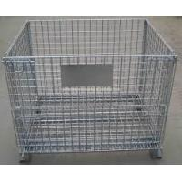 Wholesale Professional Mesh Storage Cage , Wire Mesh Pallet Cages Hot - Dip Galvanized Finish from china suppliers