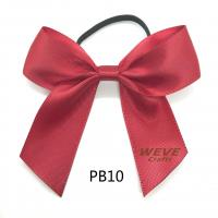 China Christmas packing bow with elastic band on back for sale