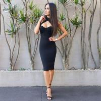 Best Spaghetti Straps Halter Bandage Dress For Party / Club / Celebrity wholesale