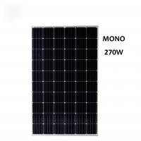 Wholesale 270 watt monocrystalline solar panel applied in roof mounting or ground mounting village solar plant single phase grid c from china suppliers