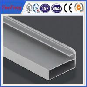 China holes drilling anodized shiny machined polish shower door frame parts aluminum profile on sale