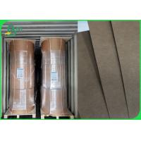 China Waterproof Greaseproof 300g + 15g PE Coated Kraft Paper For Food Tray / Drinks Cup for sale