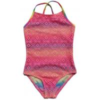 China Girls big size and medium one-piece bathing suit children, hollow out hook weaving swimsui on sale