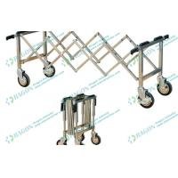 Buy cheap Silver Stainless Steel Funeral Equipment Folding mortuary Trolley with Four from wholesalers