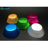 Wholesale Colorful Muffin Foil Baking Cups / Personalized Aluminum Foil Cupcake Liners from china suppliers