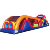 China Inflatable Bouncy Castle Assault Course , Warrior Dash Blow Up Obstacle Course Rental for sale