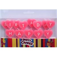 Wholesale Pink Heart-shaped Happy Birthday Letter Candles (ZMC0059) from china suppliers