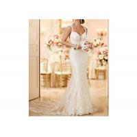 China Backless Ivory Mermaid Wedding Gown With Lace Long Fishtail Size S M L for sale