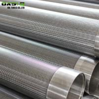 China Metal Fiber Screen Pipe In Borehole , Welding End Connection Wedge Wire Filter on sale