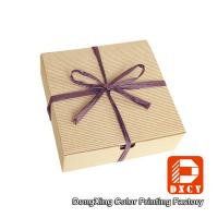 Buy cheap Biodegradable Corrugated Cardboard Boxes , Delicate Ribbon Tie Chocolate Packaging Boxes from wholesalers