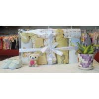 Wholesale Personalised Comfy Yellow NewBorn Baby Gift Sets With Baby Shoes OEM from china suppliers