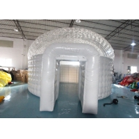 Wholesale Giant Half Transparent PVC Inflatable Christmas Igloo Tent Inflatable Air Dome Tent from china suppliers