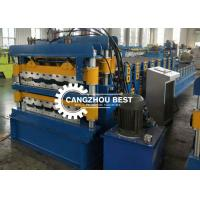 China 0.3-0.8mm IBR Corrugated Tile Roofing Sheet Roll Forming Machine Long Life Time for sale