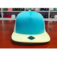Buy cheap Fashionable Mix Color Blank Custom design logo Flat Bill Plastic buckle Snapback from wholesalers