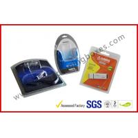 Folded Cable Transparent Plastic Clamshell Packaging For USB With Paper Insert for sale