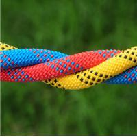 Wholesale high quality 10.5mm polyester safery braided rope used for mountain climbing and rescue from china suppliers