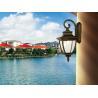 Black Aluminum Lamp Classic Outdoor Lighting 4 x 60W E14 Bulb 250V Wall Lamp for sale
