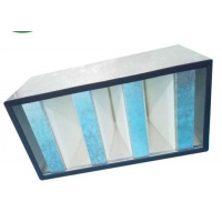 Wholesale Galvanized Frame Mini Pleat HEPA Filter / V Bank HEPA Filter For Clean Room from china suppliers