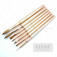 Wholesale Rose Gold Pure Kolinsky Acrylic Brush Customized Liner Stripping  With Cap from china suppliers