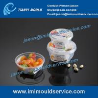Wholesale 280ml -380ml thin wall sauce containers mould, IML plastic cups with lids mould making from china suppliers