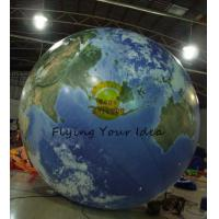 Wholesale 4m Round Advertising Helium Balloons , Inflatable Ground Grobal Balloons For Celebration from china suppliers