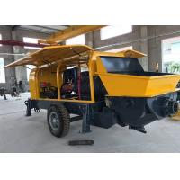 Wholesale Electric Engine Trailer Concrete Pump , Hydraulic Stationary Mini Concrete Pump Machine from china suppliers