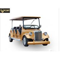 Classic Type Electric Club Car Utility Vehicle With Golden Yellow Color , 8 Seat for sale