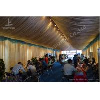 Quality 6M Span Commercial Rain Tents Outdoor Event Canopy With Luxury Decorations for sale