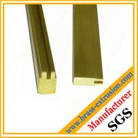 Buy cheap OEM design lock key cylinder material brass extrusion profiles sections from wholesalers