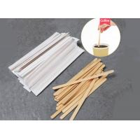 China Customized Printed Wooden Coffee Stirrers 14mm Length 6mm Width on sale
