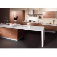 Best Sliver Champagne Lacquer Kitchen Cabinets , High Gloss Kitchen Storage Cabinet wholesale