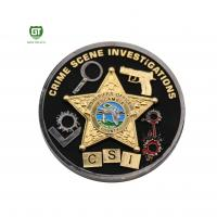 China Double Side double plating Crime Scene factory supply Challenge Coins for sale