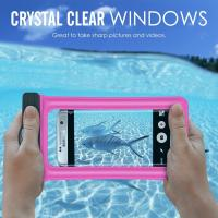 Wholesale Transparent Universal Waterproof Phone Bag Case For Kayaking / Swimming / Beach from china suppliers